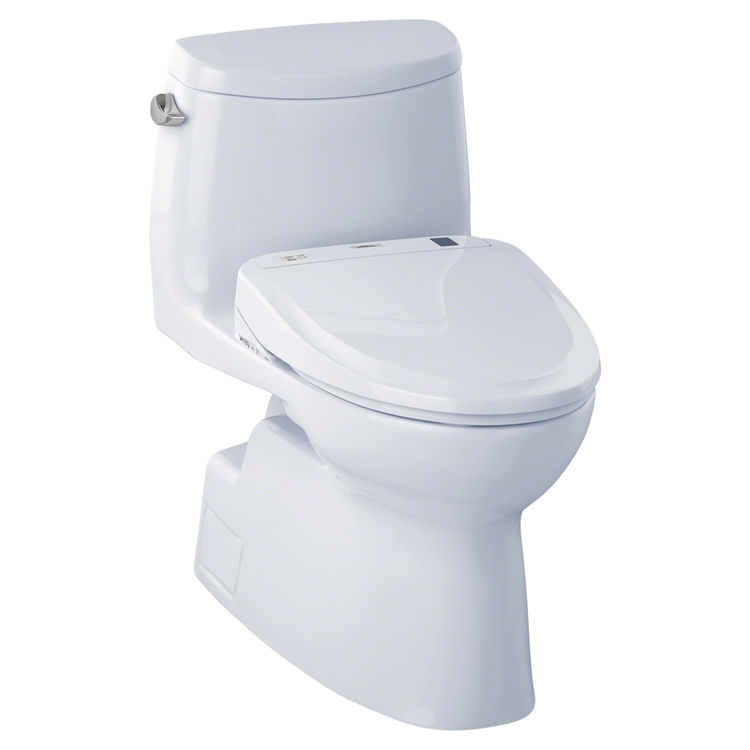 View 2 of Toto MW614584CEFG#01 TOTO MW614584CEFG#01 WASHLET+ Carlyle II One-Piece Toilet w/ S350e - Cotton White, Elongated