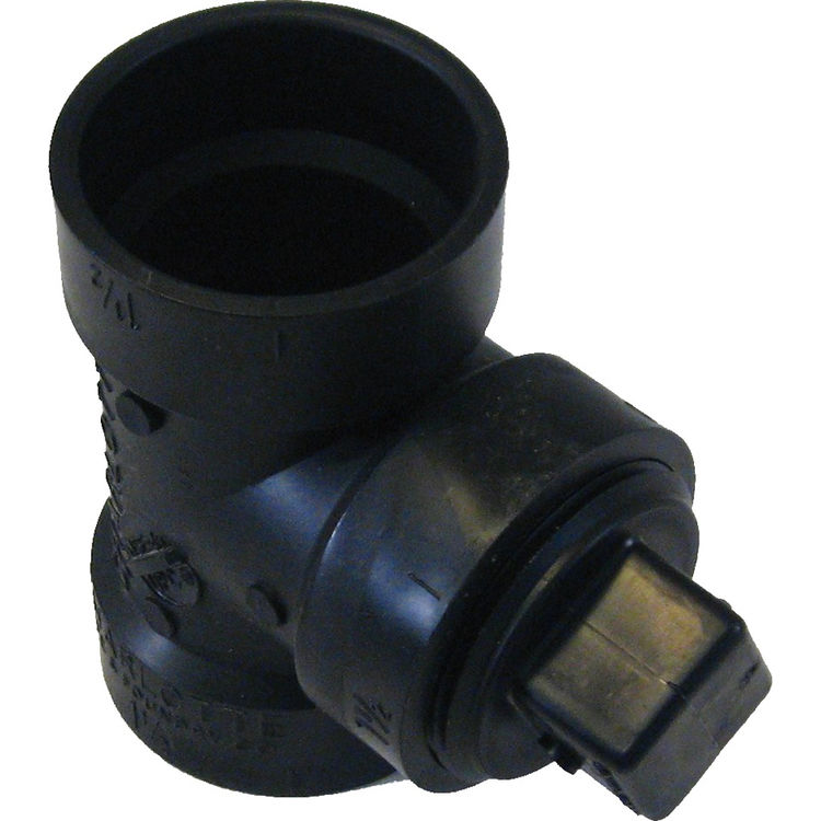 Commodity  1-1/2 Inch ABS Cleanout Tee with Plug, ABS Construction