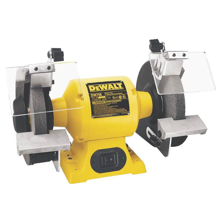 Dewalt DW756 Dewalt DW756 Heavy Duty Bench Grinder, 5/8 hp, 4 A, 3450 rpm, 6