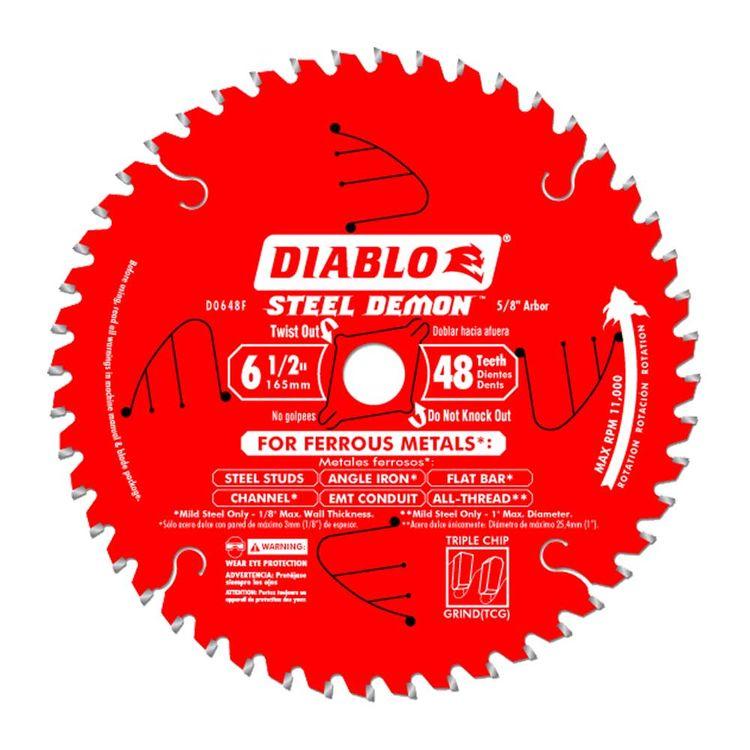Diablo D0648F Diablo D0648F 6-1/2-Inch 48T Circular Saw Blade