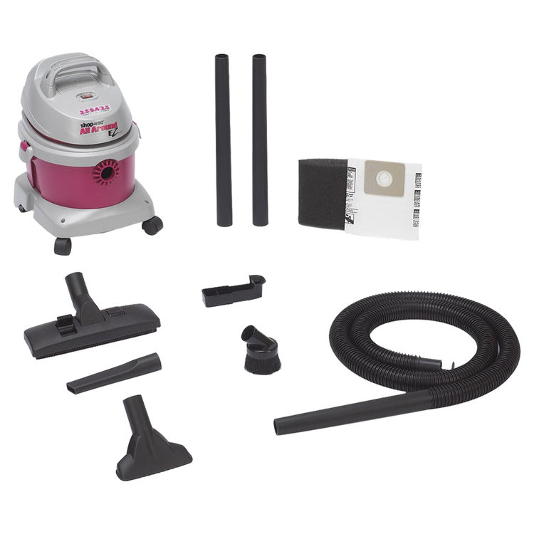 Shop-Vac 5895200 All Around Ez 5895200 Wet/Dry Corded Vacuum, 120 VAC, 8 A, 2.5 hp, 2.5 gal Tank, 130 cfm