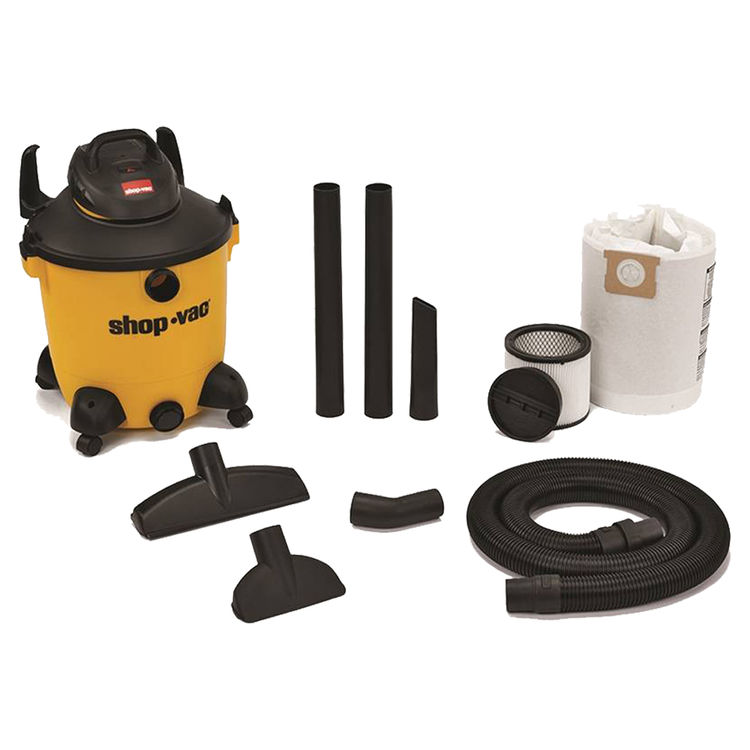 Shop-Vac 9651200 Pro 9651200 Wet/Dry Corded Vacuum, 120 VAC, 11.3 A, 5 hp, 12 gal Tank, 190 cfm