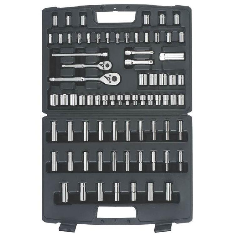 Stanley 96-010 Stanley 96-010 Mechanics\' Tool Set, 75 Pieces, Chrome Vanadium Steel