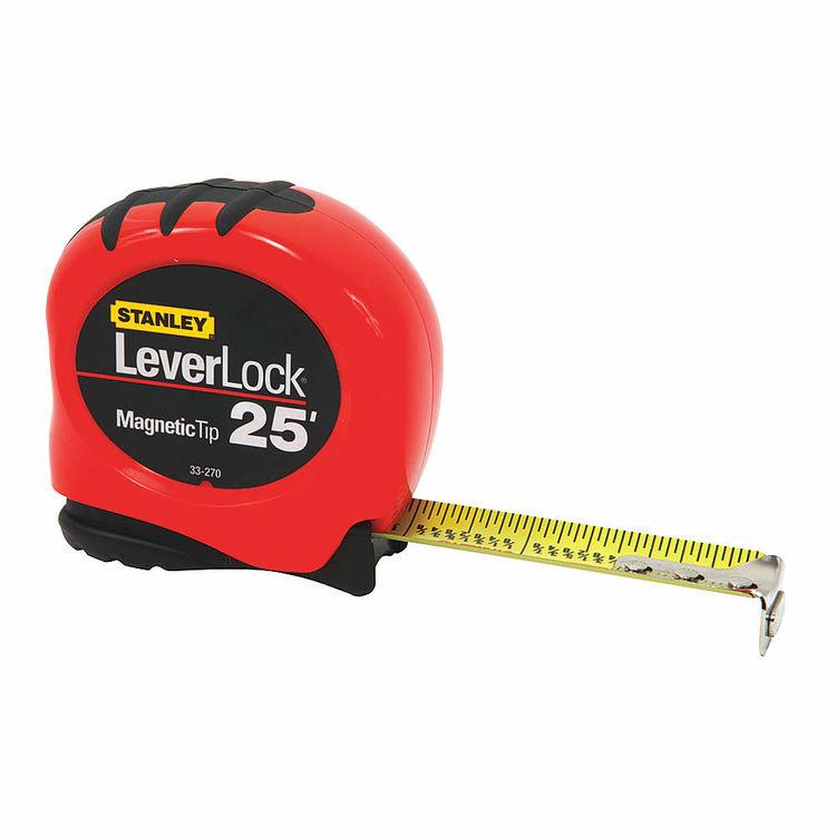Stanley 33-270 Stanley LeverLock Self-Locking Fractional Tape Rule, 25ft x 1\