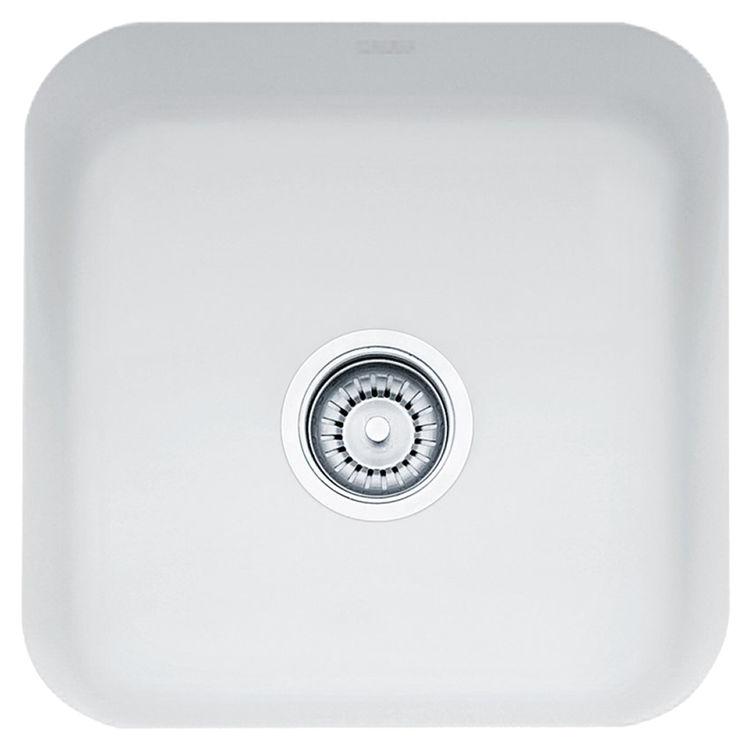 Franke CCK110-15MW Franke CCK110-15MW Single Bowl Undermount Fireclay Undermount Sink - Matte White