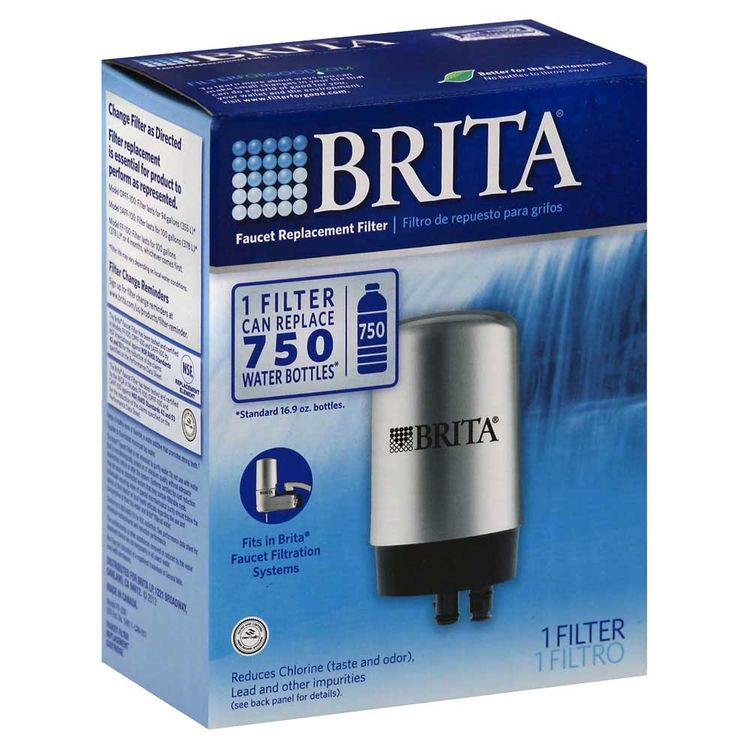 Brita 42617 Clorox 42617 Replacement Faucet Filter, For Use With Brita FF-100 and OPFF-100 On-Tap Faucet Filtration Systems, Blue