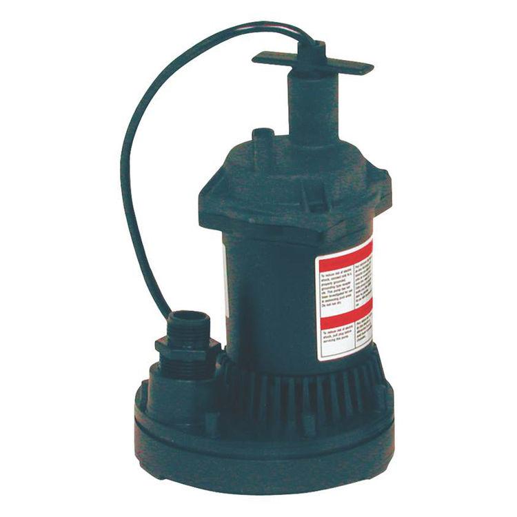 Flotec FP0S1250X-08 Flotec FP0S1250X-08 General Purpose Water Removal Utility Pump, 1200 Max gph, 1/6 hp, 115 VAC, 60 Hz, 8 ft