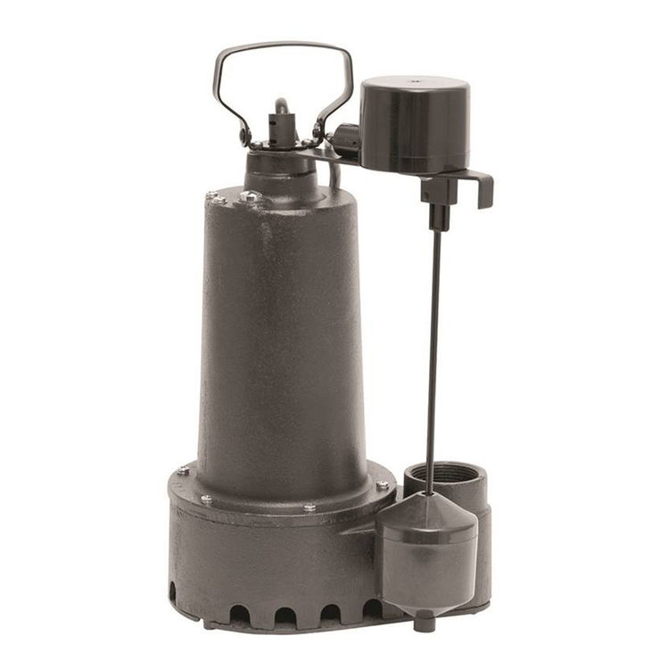 Superior 92352 Superior Pump 92352 High Capacity Side Sump Pump, 60 gpm, 1/3 hp, 120 V, Cast Iron, 1/2 in Inlet x 1-1/2 in Outlet