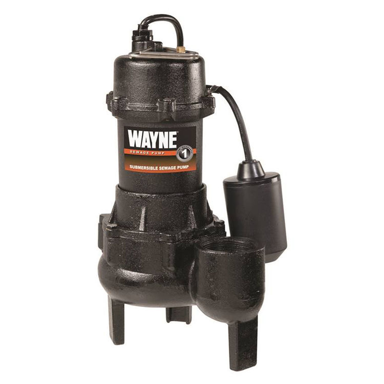 Wayne RPP50 Wayne Pumps RPP50 Submersible Sewage Pump, 5700 gph, 1/2 hp, 120 V, 15 A 2 in NPT Outlet, 33 - 133 deg F