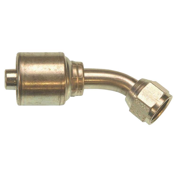 Gates G251750810 MegaCrimp G25 Hydraulic Hose Elbow, 45 deg, 1/2 in, Female JIC 37 deg Flare Swivel 3.62 in L