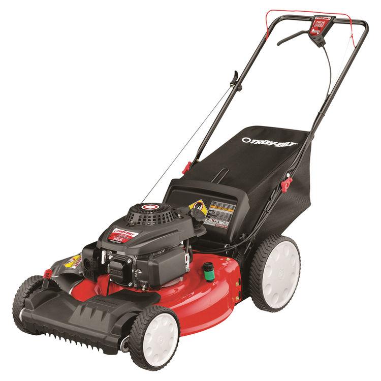 MTD 12AVB22J766 Troy-Bilt 12AVB22J766 Walk-Behind Lawn Mower, 21 in W x 1-1/4 to 3-3/4 in H Cutting, 159 cc, 1 qt Gas