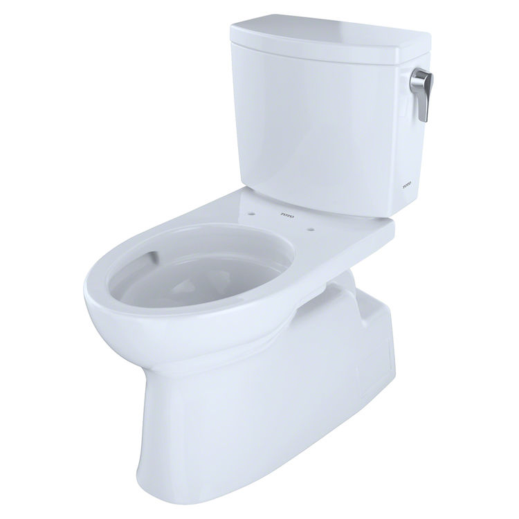 View 2 of Toto CST474CUFRG#01 TOTO Vespin II 1G Two-Piece Elongated 1.0 GPF Universal Height Skirted Toilet with CeFiONtect and Right-Hand Trip Lever, Cotton White - CST474CUFRG#01