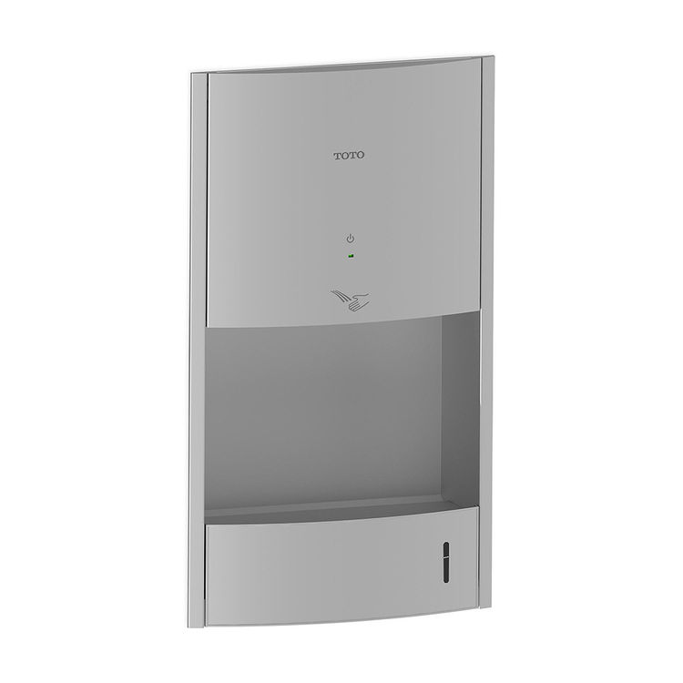 View 2 of Toto HDR111#SS TOTO Clean Dry High Speed Concealed Hand Dryer - Stainless Steel - TOTO HDR111#SS