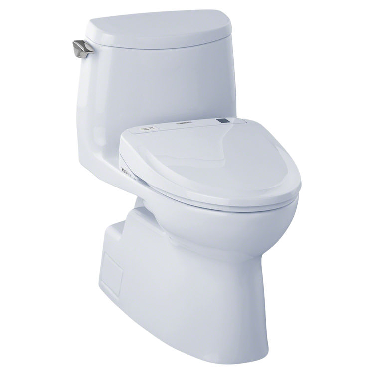 View 2 of Toto MW614584CUFG#01 TOTO MW614584CUFG#01 WASHLET+ Carlyle II 1G One-Piece Toilet w/ S350e - Cotton White, Elongated