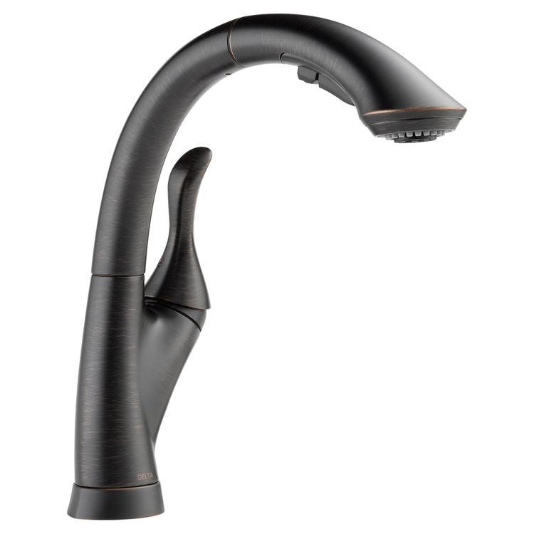 Delta 4153-RB-DST Delta 4153-RB-DST Linden One Handle Pulldown Kitchen Faucet - Venetian Bronze