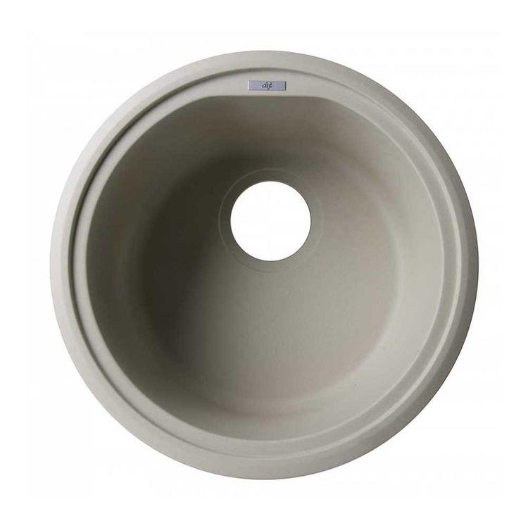 ALFI AB1717UM-B Round Undermount Kitchen Sink, Biscuit | PlumbersStock