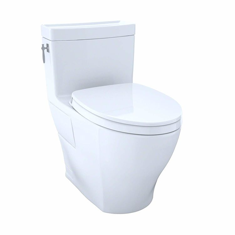 View 2 of Toto MS626124CEFG#11 Toto MS626124CEFG#11 Colonial White Aimes Elongated One-Piece Toilet
