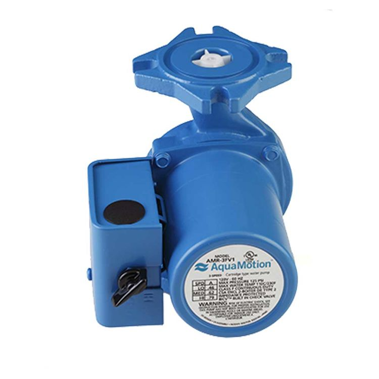 View 2 of Aquamotion AMR-3FV1 AquaMotion AMR-3FV1 Circulator Pump, 3 Speed with Check Valve, Cast Iron