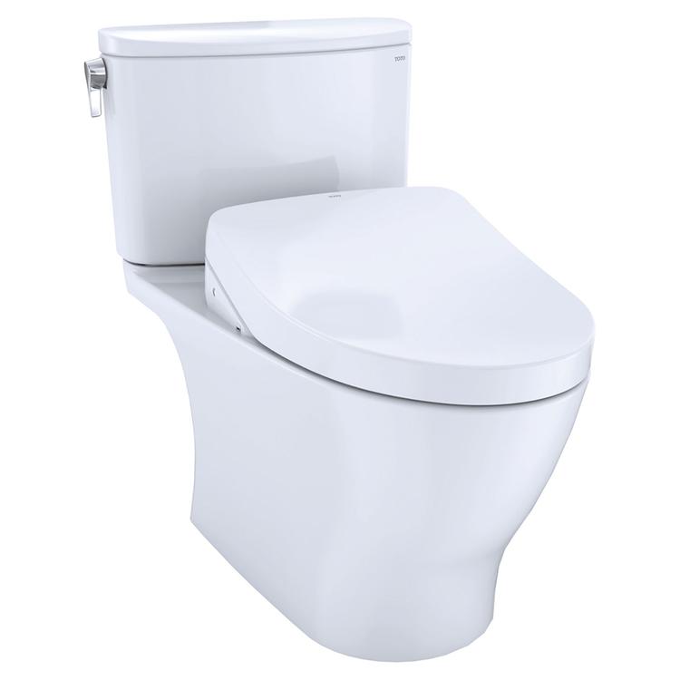 View 2 of Toto MW4423056CEFGA#01 TOTO WASHLET+ Nexus Two-Piece Elongated 1.28 GPF Toilet with Auto Flush S550e Contemporary Bidet Seat, Cotton White - MW4423056CEFGA#01
