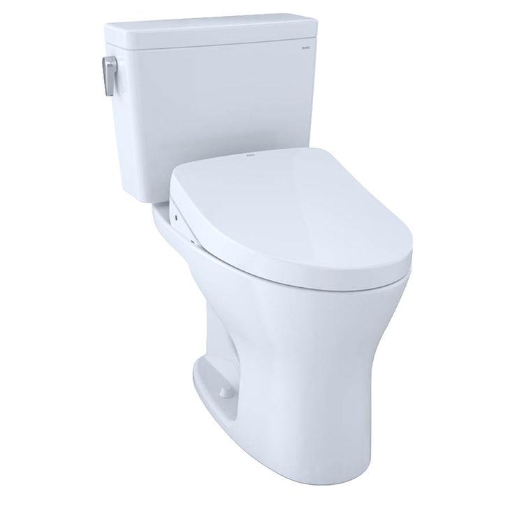 View 2 of Toto MW7463056CEMFGA#01 TOTO Drake WASHLET+ S550e Two-Piece Toilet - 1.28 GPF & 0.8 GPF - Universal Height - Cotton White - MW7463056CEMFGA#01