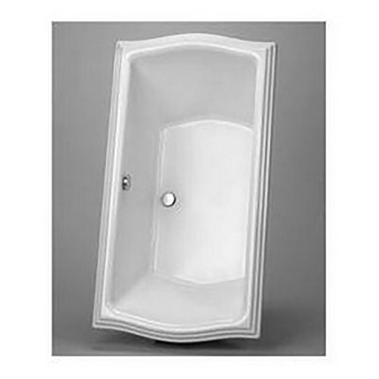 View 3 of Toto ABY785N#01YPN Toto ABY785N#01YPN Clayton Cotton White Acrylic Soaker Tub with Grab Bar and Polished Nickel Trim