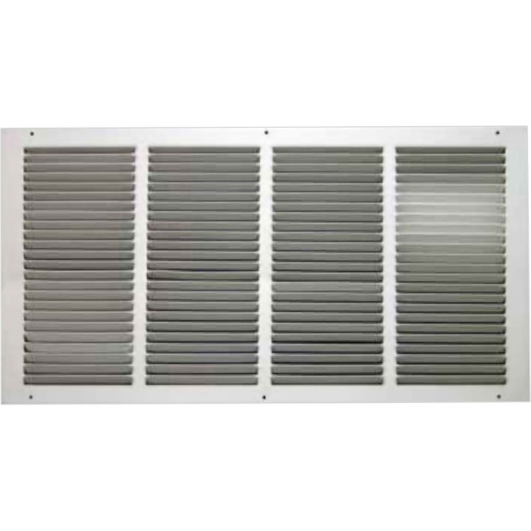 View 3 of Shoemaker 1050-30X10 30x10 Soft White Return Air Grille (Stamped from Cold Roll Steel) - Shoemaker 1050
