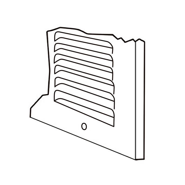 View 3 of Shoemaker 1050-30X12 30x12 Soft White Return Air Grille (Stamped from Cold Roll Steel) - Shoemaker 1050