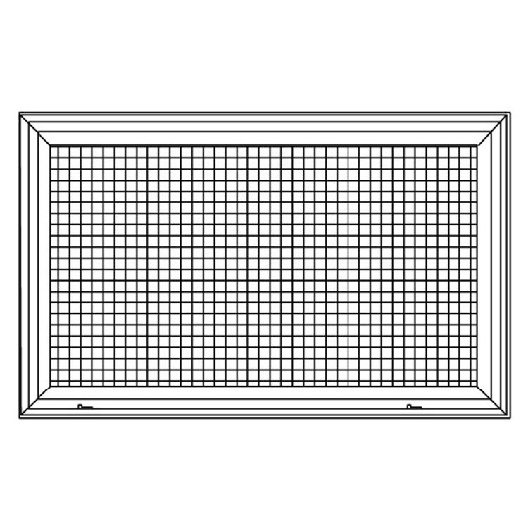 View 3 of Shoemaker 620FG1-18X10 18X10 Soft White Lattice Filter Grille with Steel Frame - Shoemaker 620FG Series