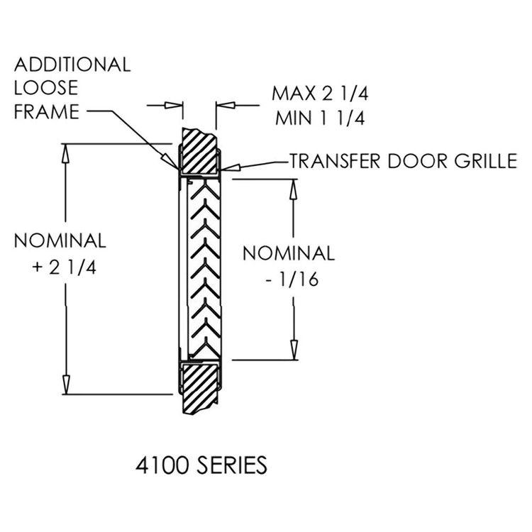 View 4 of Shoemaker 4000-16X16 16X16 Driftwood Tan Single Frame Aluminum Transfer Door Grille (Aluminum) - Shoemaker 4000