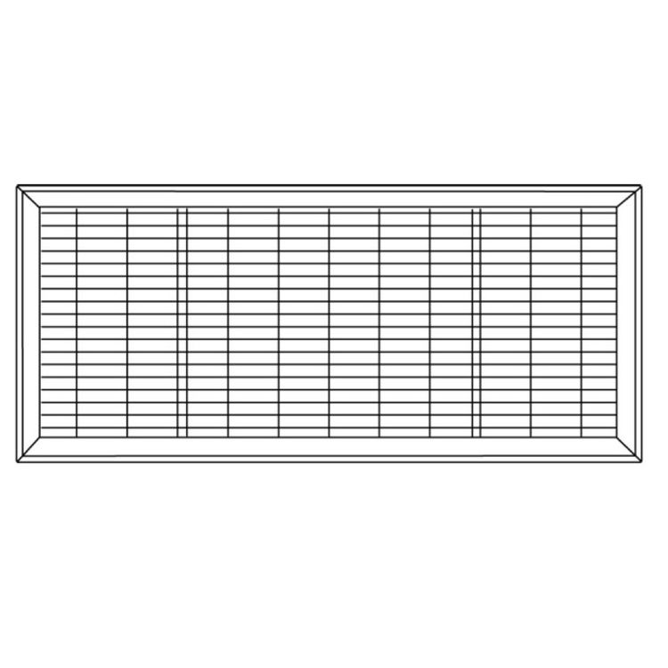 View 3 of Shoemaker 1600-R-18X18 18x18 Driftwood Tan Vent Cover (Steel Honeycomb Construction) - Shoemaker 1600R