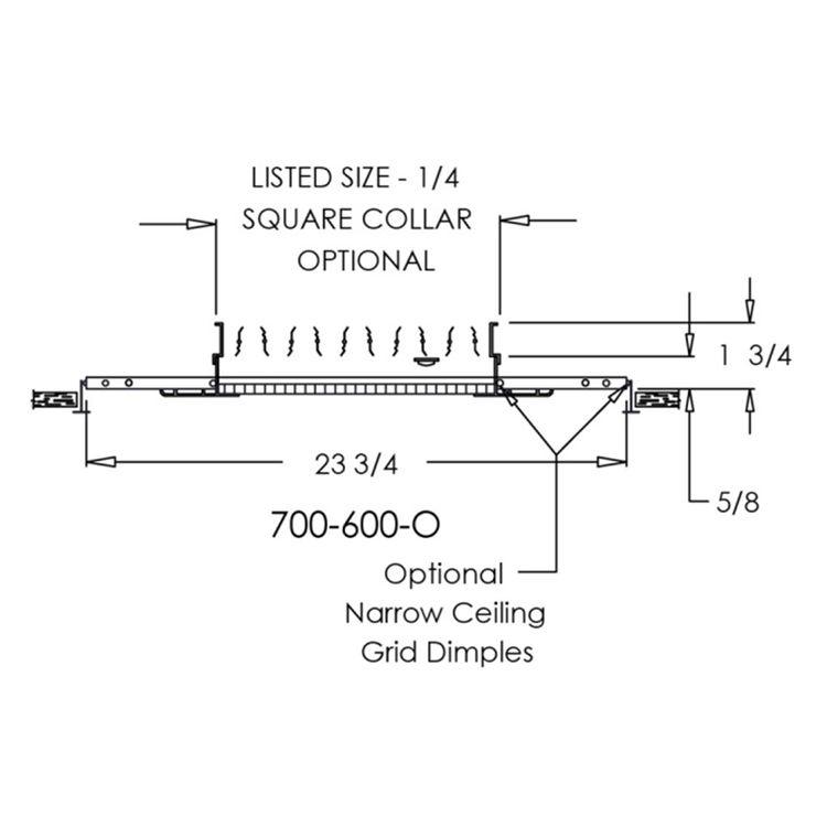 View 4 of Shoemaker 700-600-14X14-8 14X14-8 Soft White Lattice Return Air Grille in T-Bar Panel (Aluminum) - Shoemaker 700-600