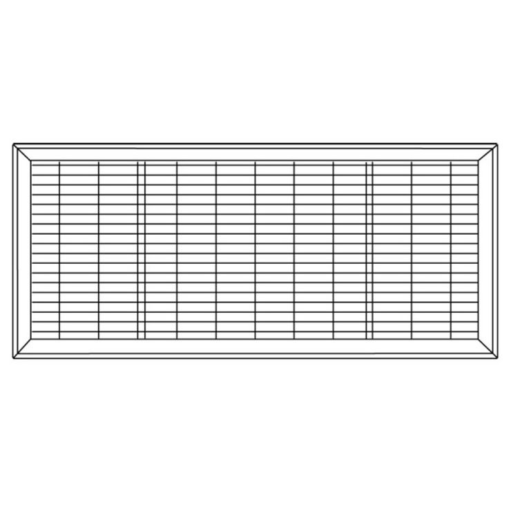 View 3 of Shoemaker 1600-R-18X24 18x24 Driftwood Tan Vent Cover (Steel Honeycomb Construction) - Shoemaker 1600R