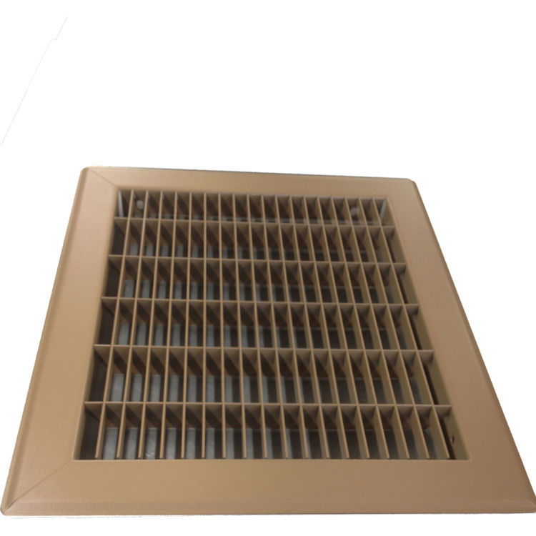 View 5 of Shoemaker 1600-R-10X36 10x36 Driftwood Tan Vent Cover (Steel Honeycomb Construction) - Shoemaker 1600R