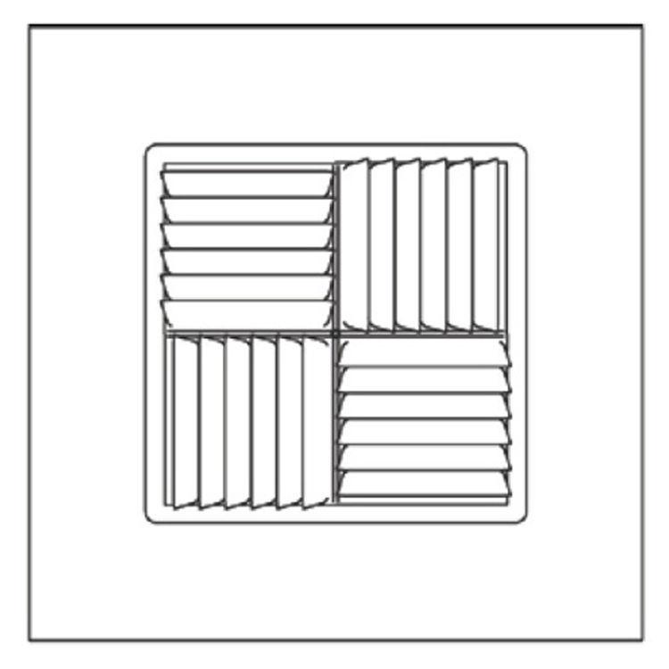 View 3 of Shoemaker 700MA-16X16-12 16X16-12 Soft White Modular Core Diffuser in T-Bar Panel - Shoemaker 700MA