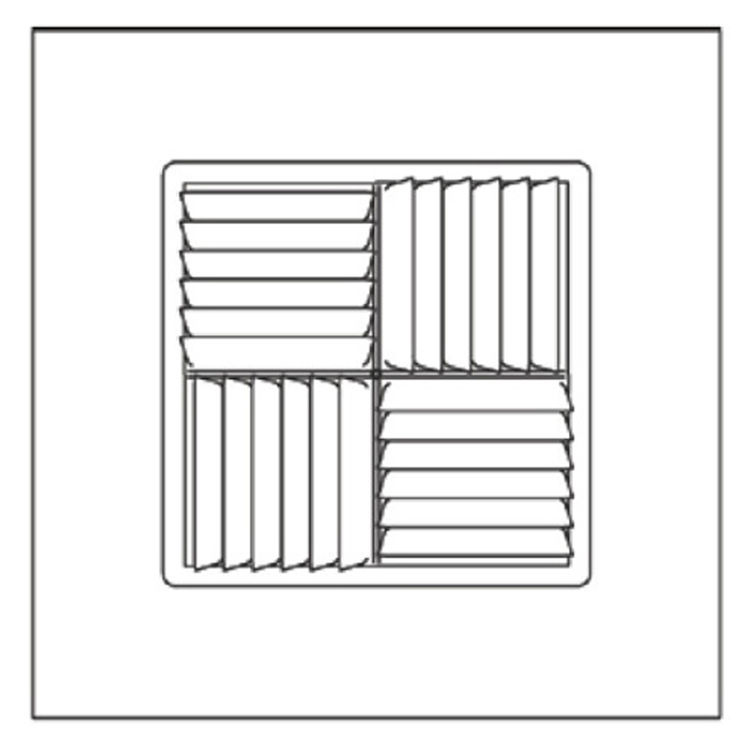 View 3 of Shoemaker 700MA-18X18-10 18X18-10 Soft White Modular Core Diffuser in T-Bar Panel - Shoemaker 700MA