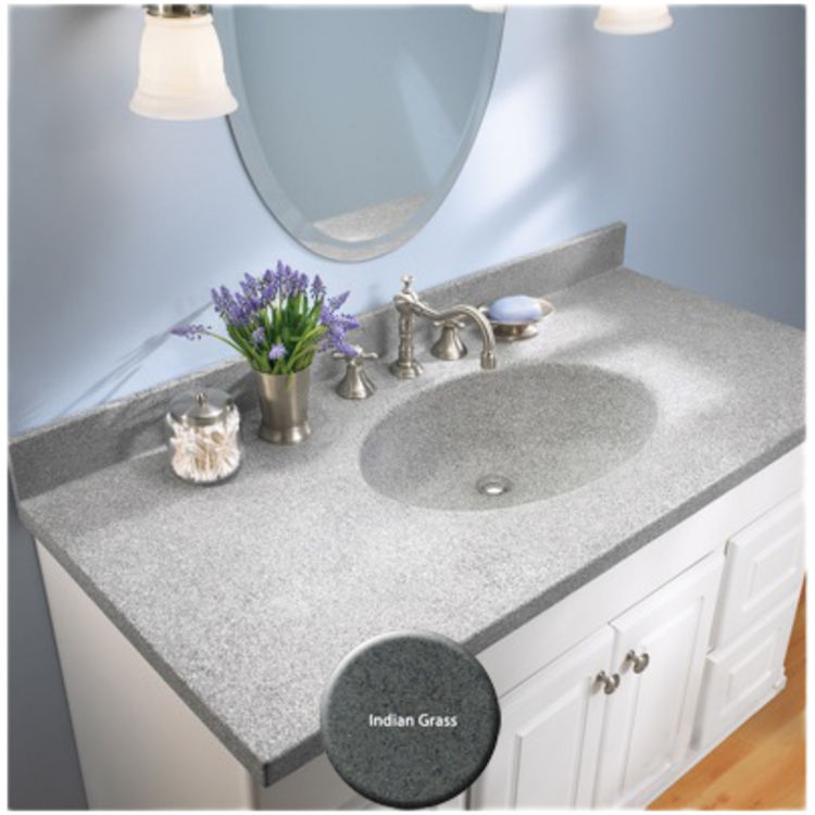 View 4 of Swanstone CH02255.071 Swanstone CH1B2255-071 Chesapeake Indian Grass Vanity Top