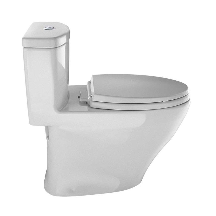 View 5 of Toto MS654114MF#11 TOTO Aquia One-Piece Elongated Dual-Max, Dual Flush 0.9 & 1.6 GPF Universal Height Skirted Toilet, Colonial White - MS654114MF#11