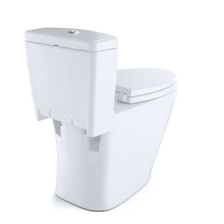 View 5 of Toto MS654114MF#01 Toto MS654114MF#01 Aquia One-Piece Dual Flush Elongated Toilet, 1.6 GPF and 0.9 GPF - Cotton White