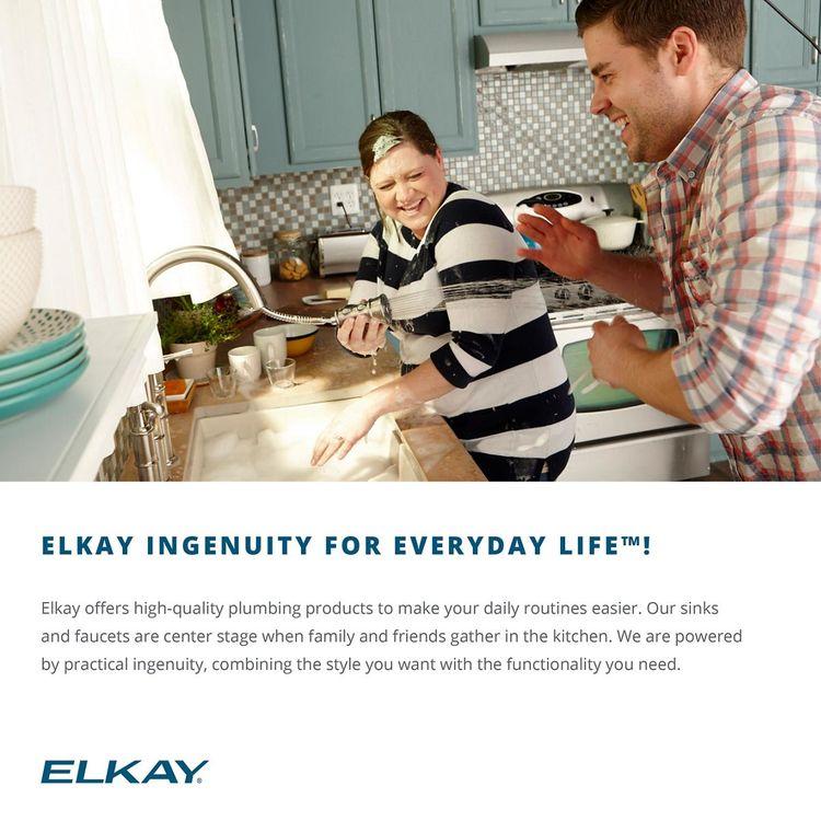 View 6 of Elkay LSR27224 Elkay Lustertone Classic Stainless Steel 27