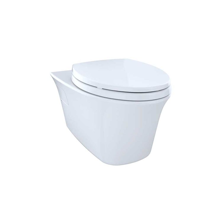 View 6 of Toto CT486FG#01 Toto Maris Wall-Hung Elongated Toilet Bowl with Skirted Design and CeFiONtect, Cotton White - CT486FG#01