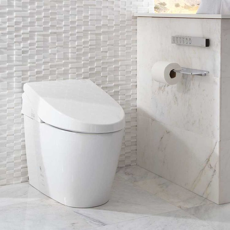 View 11 of Toto MS982CUMG#01 Toto Neorest 550H Dual Flush Toilet - 1.0 or 0.8 GPF, Cotton White - MS982CUMG#01