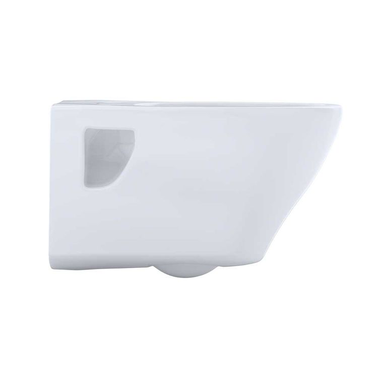View 5 of Toto CT418F#01 Toto Aquia Wall-Hung Elongated Toilet Bowl with Skirted Design, Cotton White - CT418F#01