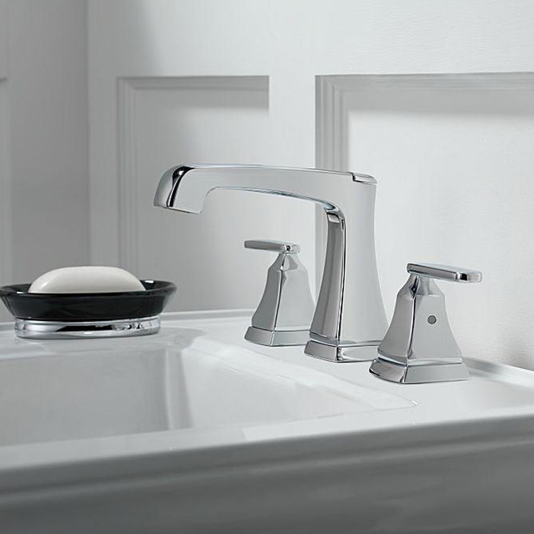 View 3 of Delta 3564-MPU-DST Delta 3564-MPU-DST Chrome Ashlyn Two Handle Widespread Lavatory Faucet