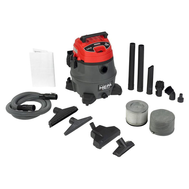 View 7 of Ridgid 50358 Ridgid RV2400A Industrial Fourteen Gallon Two Stage Wet/Dry Vacuum With Cart