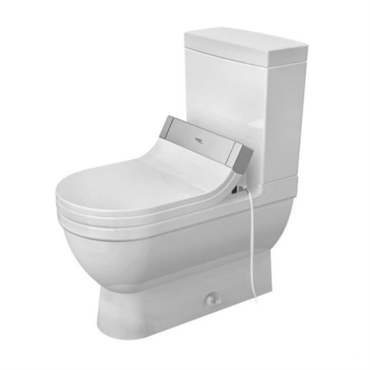 View 5 of Duravit 2125010000 Duravit 2125010000 Starck 3  Floor Mounted Elongated US-Version Toilet - White