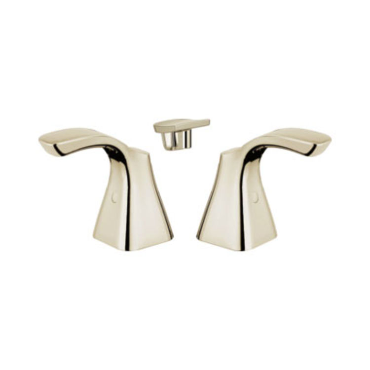 View 3 of Delta H252PN Delta H252PN Tesla Two-Lever Faucet Handle Set, Polished Nickel