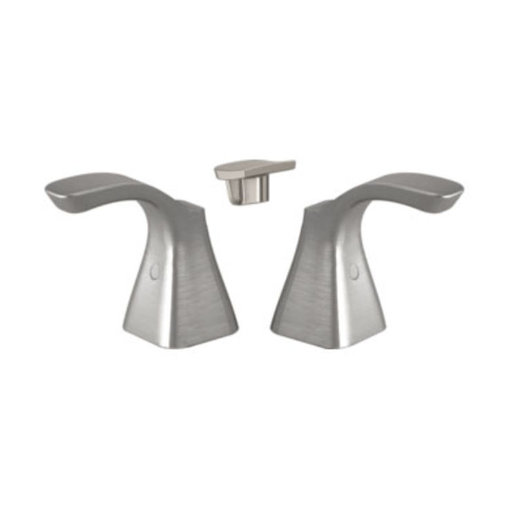 View 3 of Delta H252SS Delta H252SS Tesla Two-Lever Faucet Handle Set, Stainless