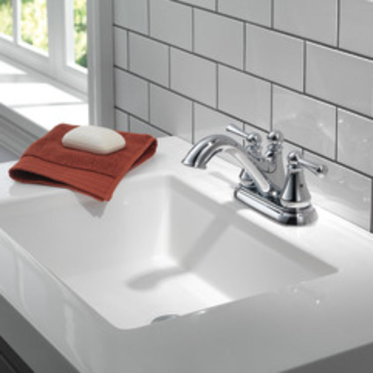 View 4 of Delta 25999LF Delta 25999LF Haywood Centerset Bathroom Faucet with Pop-Up Drain, Chrome