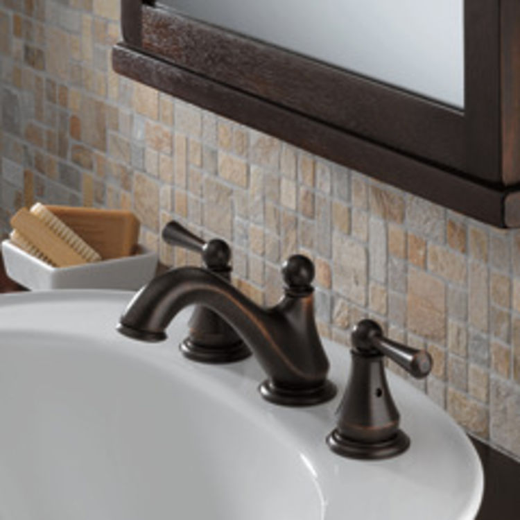 View 3 of Delta 35999LF-RB Delta 35999LF-RB Haywood Two-Handle Widespread Lavatory Faucet, Venetian Bronze