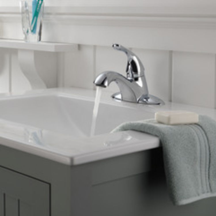 View 4 of Delta 505LF Delta 505LF Classic Single Handle Centerset Bathroom Faucet, Chrome